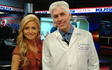 (From left): KUSI anchor Lisa Remillard and Walter Coyle, MD of Scripps Clinic