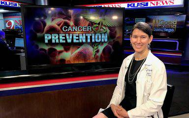 Laura Goetz, MD, a Scripps Clinic surgeon who specializes in cancer treatment, discussed cancer prevention strategies on KUSI.