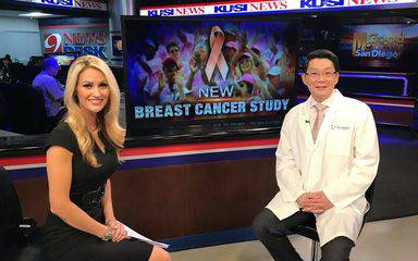 Ray Lin, MD, a radiation oncologist at Scripps, and KUSI anchor Lauren Phinney discussed a new study that focused on early-stage breast cancer.