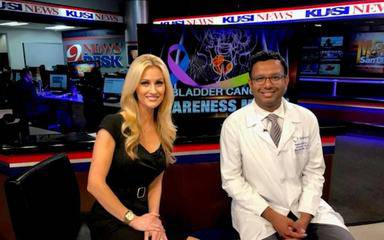 Ramdev Konijeti, MD, a urologist at Scripps Clinic Torrey Pines, discussed the dangers of bladder cancer with KUSI host Lauren Phinney, including symptoms and bladder cancer treatments.