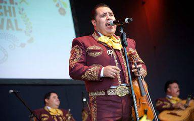 A mariachi singer performs at the 7th annual Scripps Mariachi Festival to benefit the Scripps Mercy Outreach Surgical Team, M.O.S.T.