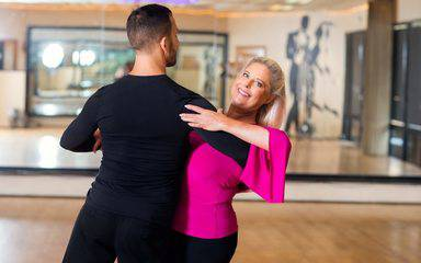 Suanne Summers is a Scripps patient who underwent back surgery at Scripps and was featured in a story in the Del Mar Times on her return to ballroom dancing after spinal surgery.