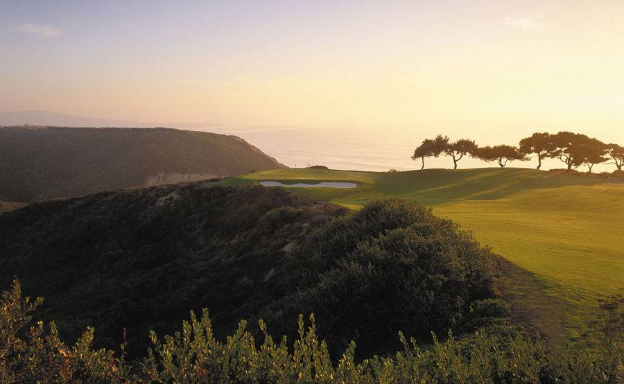 An aerial view of Torrey Pines golf course in La Jolla represents one of the many activities out-of-town patients can enjoy in San Diego.