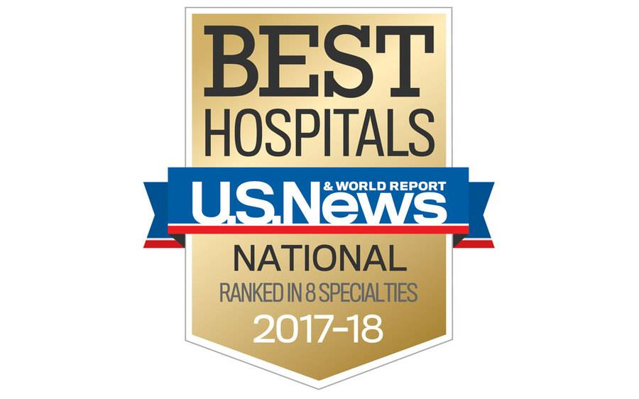 The coveted U.S. News and World Report badge that ranks Scripps as a San Diego best hospital for 2017.