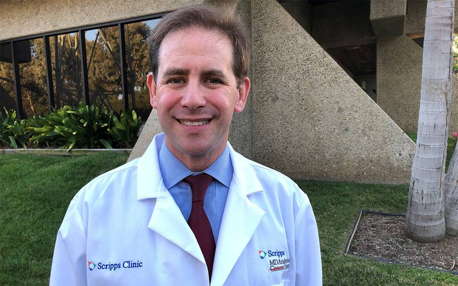 Darren Sigal, MD, who led a unique immunotherapy clinical trial for liver cancer covered by the San Diego Union-Tribune.