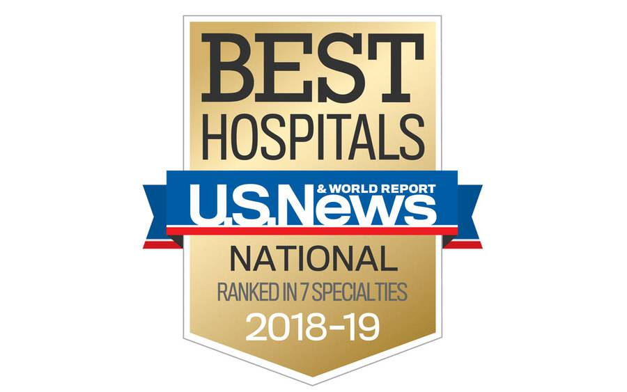 2018-2019 official US News Best Hospitals Badge