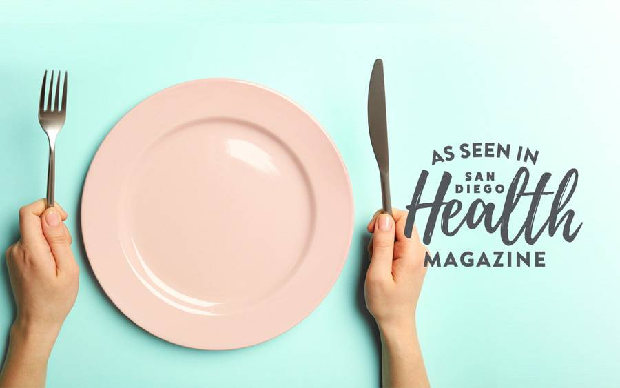 "An empty dinner plate represents how people with an empty stomach often feel a combination of hunger, anger and irritability, also known as feeling ""hangry."""
