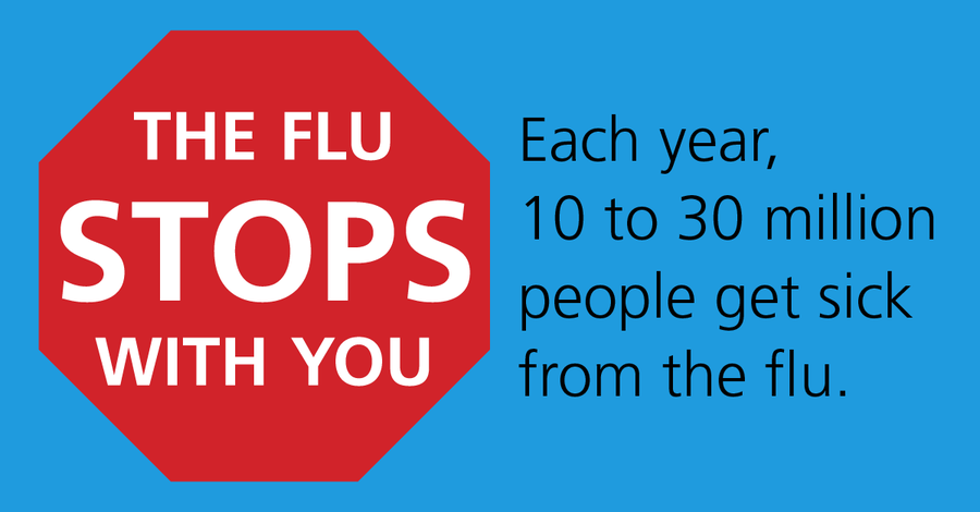 The flu stops with you infographic