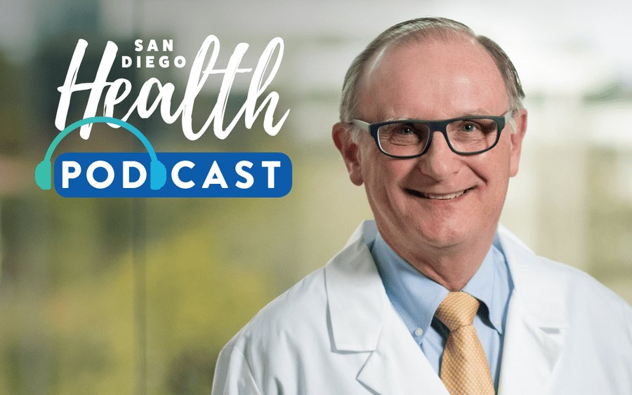 Dr. Michael Kosty, Scripps Clinic oncologist, featured in San Diego Health podcast discussing immunotherapy.