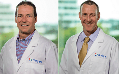 Drs. Tim Peppers and Jamieson Glenn are new Scripps Health spine specialists.